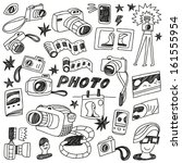 photography doodles | Shutterstock .eps vector #161555954