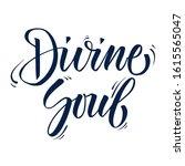 calligraphy phrase eternal soul.... | Shutterstock . vector #1615565047