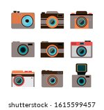 set icons of cameras... | Shutterstock .eps vector #1615599457