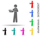 bad food multi color style icon....
