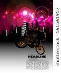 vector of cyclist  | Shutterstock .eps vector #161561957