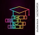 graduation cap books school...