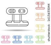 camera web in multi color style ...