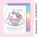 birthday party invitation card... | Shutterstock .eps vector #1615678357