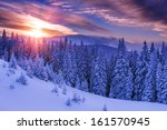 snovy trees on winter mountains | Shutterstock . vector #161570945