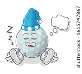 Golf Ball Sleeping Cartoon....