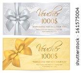 voucher  gift certificate ... | Shutterstock .eps vector #161575004