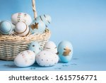 Easter Colored Eggs In A Basket ...