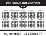 250 icons set travel ... | Shutterstock .eps vector #1615806577