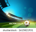 public buildings. football... | Shutterstock .eps vector #1615821931