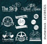 Vector Set: Bicycle Shop Labels and Icons