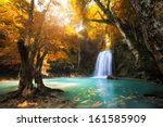 Deep Forest Waterfall In...