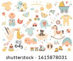 baby shower set. perfect for... | Shutterstock .eps vector #1615878031