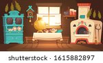 interior of old russian kitchen ...   Shutterstock .eps vector #1615882897