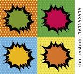 abstract pop art object on...   Shutterstock .eps vector #161593919