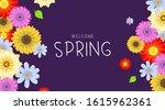 spring background illustration... | Shutterstock .eps vector #1615962361