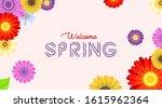 spring background illustration... | Shutterstock .eps vector #1615962364