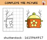 complete the picture of a pot.... | Shutterstock .eps vector #1615964917