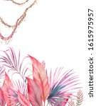 jungle plants card design.... | Shutterstock . vector #1615975957