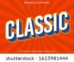classic text effect template... | Shutterstock .eps vector #1615981444