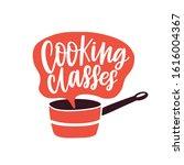 cooking classes label vector... | Shutterstock .eps vector #1616004367