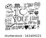 i love you valentine's day | Shutterstock .eps vector #161604221