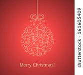 vector christmas ball. | Shutterstock .eps vector #161605409
