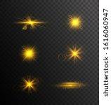 golden sparkling light trails....   Shutterstock .eps vector #1616060947