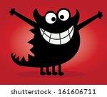 cute monster - stock vector