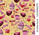 hand drawn colorful vector...   Shutterstock .eps vector #1616086291