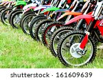 Motocross Riders Lined Up...
