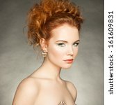 portrait of beautiful sensual... | Shutterstock . vector #161609831
