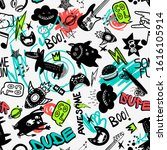 abstract seamless comics doodle ... | Shutterstock .eps vector #1616105914