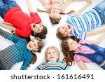 group of cheerful children... | Shutterstock . vector #161616491