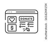 donation website line black...