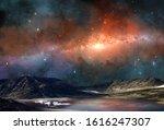 Space Scene. Milky Way In...
