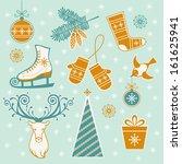 Vector Set Of Christmas And...
