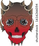 art surreal devil skull tattoo. ...   Shutterstock .eps vector #1616266054