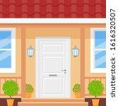 front door house. vector. home... | Shutterstock .eps vector #1616320507