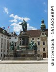 Small photo of Austria, Vienna July 2018. Kaiser Franz l Monument. Vertical photo