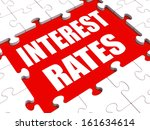 interest rate puzzle showing...   Shutterstock . vector #161634614