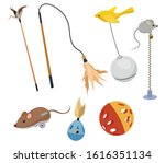 set of toys for cats.... | Shutterstock .eps vector #1616351134