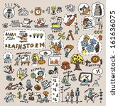 doodles creative and business... | Shutterstock .eps vector #161636075