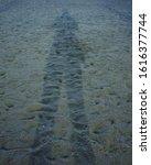 Shadow Of Man On Sand Beach ...