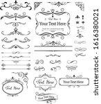 calligraphic design elements .... | Shutterstock .eps vector #1616380021