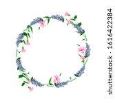 watercolor.wreath of lavender... | Shutterstock . vector #1616422384
