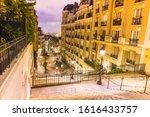 A Street At Montmartre In Pari...