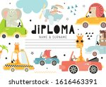 diploma template with cute kids ...   Shutterstock .eps vector #1616463391