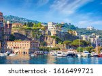 View From Sea Coastline Of...