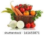 Fresh Vegetables In Basket...